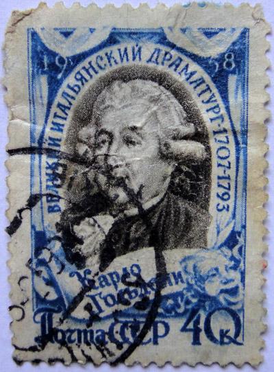 Великий итальянский драматург Карло Гольдони (1707-1793), 1958