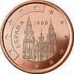 1 евроцент, Испания