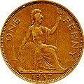 1 пенни, Великобритания