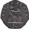 50 пенсов, Великобритания