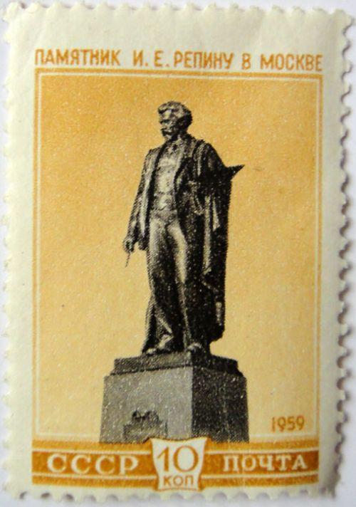 Памятник И.Е.Репину в Москве