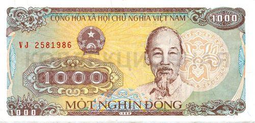1000 донгов, Вьетнам