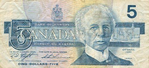 5 долларов, Канада
