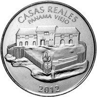 1/2 бальбоа (Medio Balboa, Casas Reales, Panama Viejo), Панама