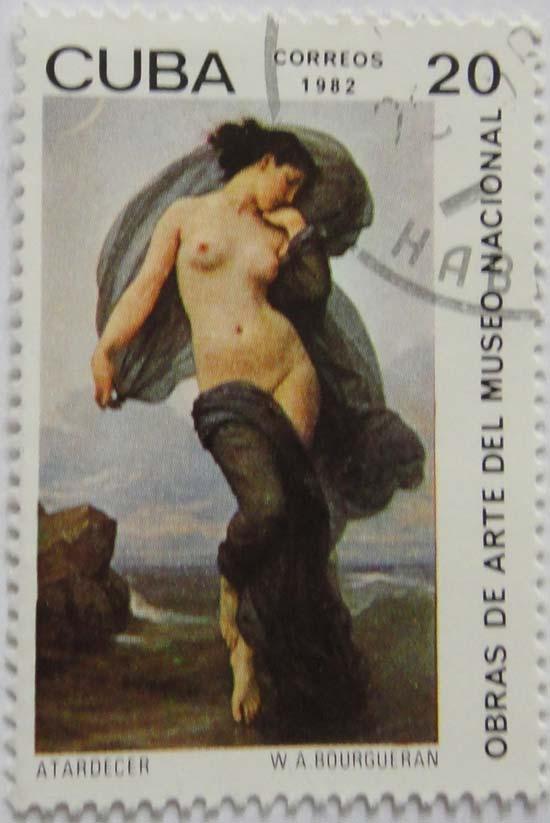 Cuba. Obras de arte del museo nacional. Atardecer, W.A.Bourgueran