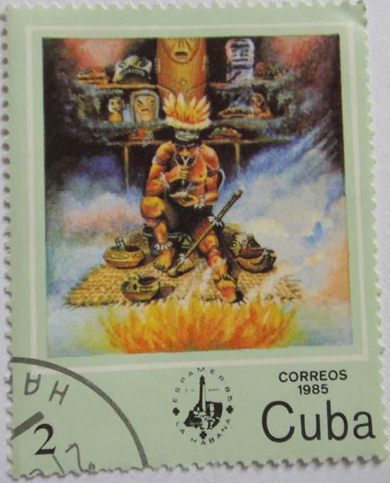 Cuba Correos 1985 Шаман